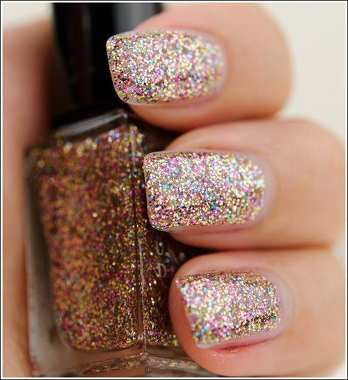 DIY Iridescent Glitter Nail Polish